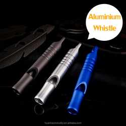 Aluminium Survival Whistle 115 dB High Frequency Training Children Outdoor Tools 3 Clors 1 Pipe High Quality EDC Whistle Camping