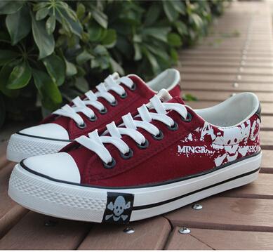 Новый мужской череп плоское дно оксфорд кружева-up скейтбордингом обувь прилив леопарда имя парусиновые туфли мода свободного покроя обувь # B1344
