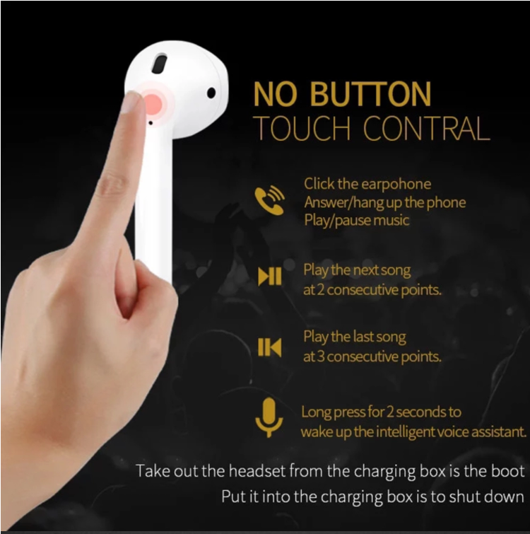 Christmas gift  2019 New Products i10 tws  Ear buds Wholesale Custom Headphones bluetooth Wireless Earbuds Small Ears Headset