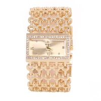 luxury hollow band with rhinestone beautiful charming ladies bracelet watch RLW04