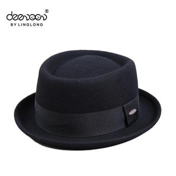 7ca0cedfa8781a Custom Wool Felt Pork Pie Hat Wholesale Men Hat
