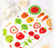2 Sheets x Food Picks Labels / Fruit Vegetable Pattern