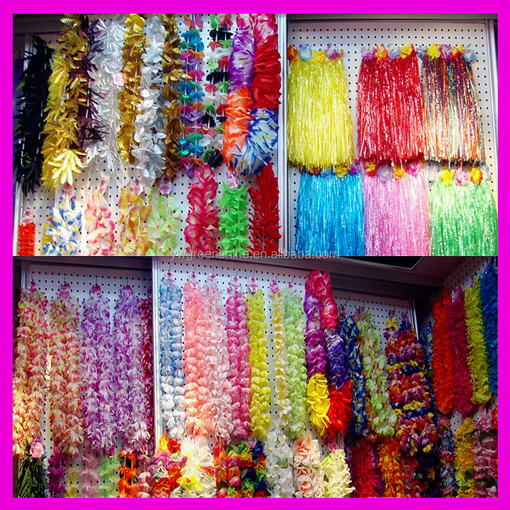 2017 Newest Hawaiian Fancy Dress Hula Skirt With Flowers,Colorful Hawaiian Hula Dance Luau Party Grass Skirt Bra Garland