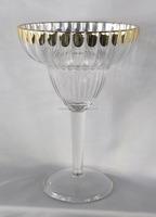 370ML Unbreakable Plastic Gold Plated Margarita Wine Glass