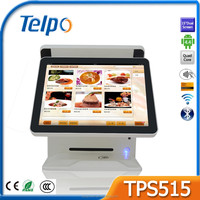 Telpo 2016 new product TPS515/Dual screen POS system/15 inch touch screen/factory price