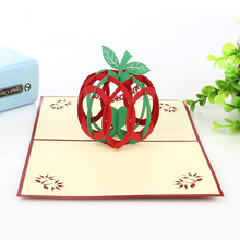 Custom Printed 3D Apple Pop Up Christmas Greeting Cards