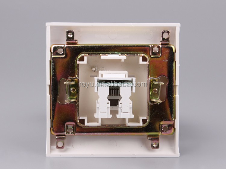 Q-LAMP 8 core Computer data socket with CAT6