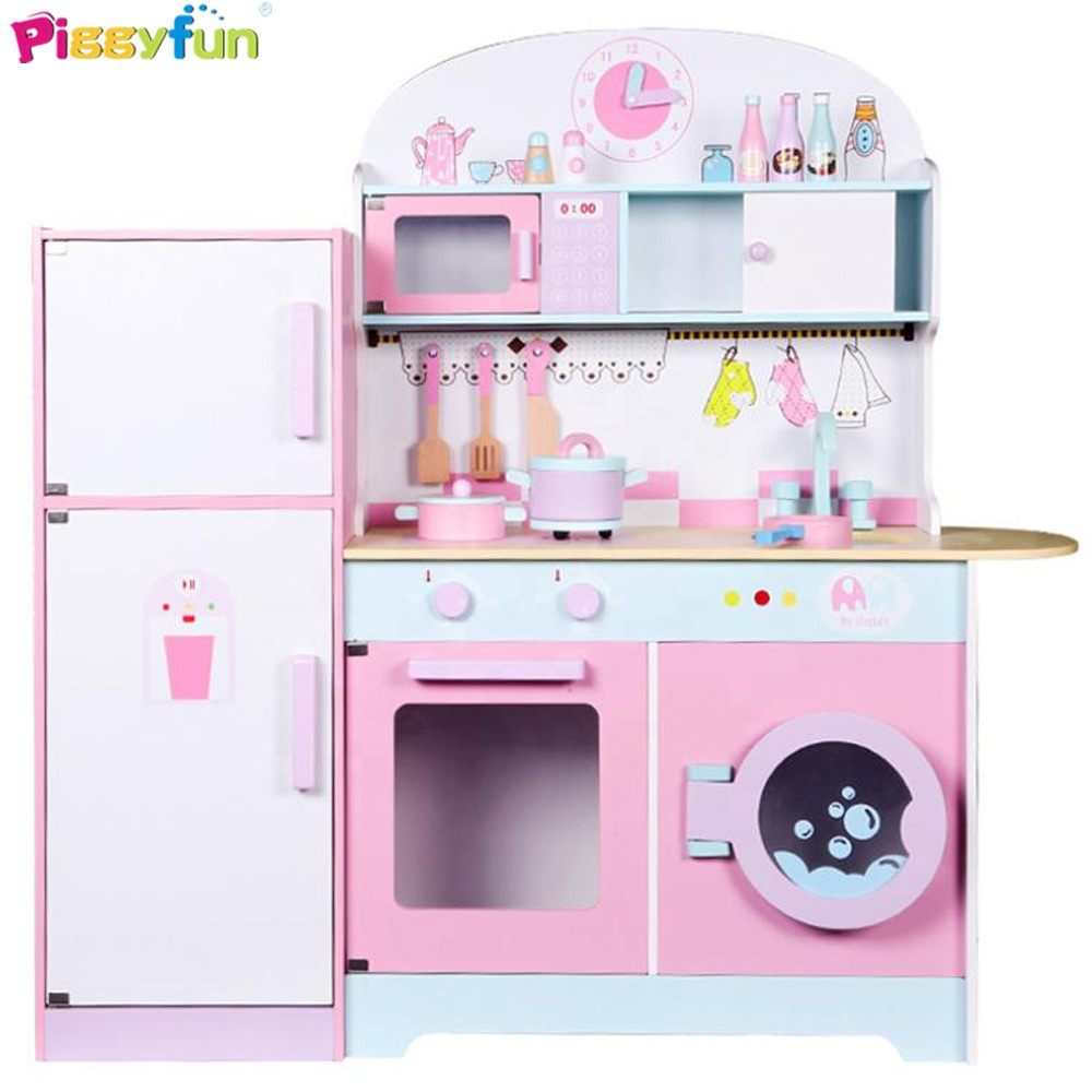 2019 New Arrival Funny Wooden Toddler Kitchen Playsets With Refrigerator  At11117 - Buy Kitchen Toy,Wooden Kitchen Toy,Toddler Kitchen Playsets  Product ...