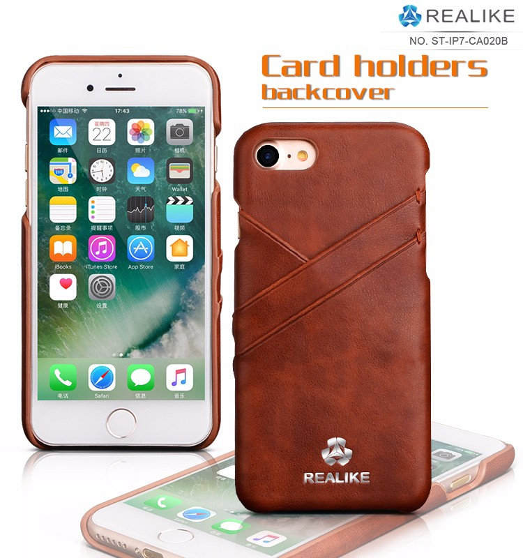 Cheap price back leather custom mobile phone cases for iphone 7