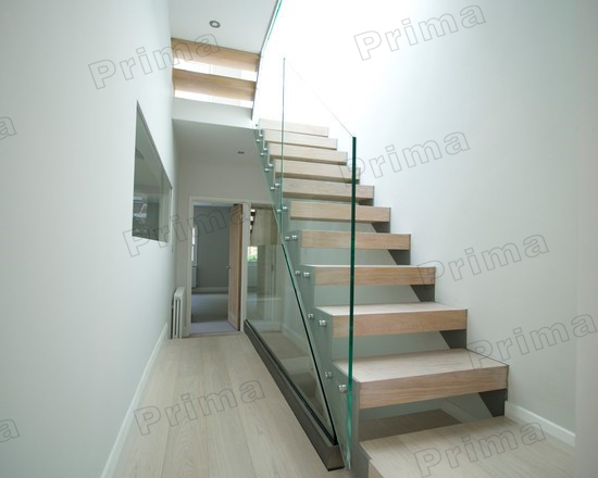Low Cost Design Staircase Railing Tempered Glass   Buy Staircase Railing  Tempered Glass,Steel Wood Staircase,Staircase Glass Railing Designs Product  On ...