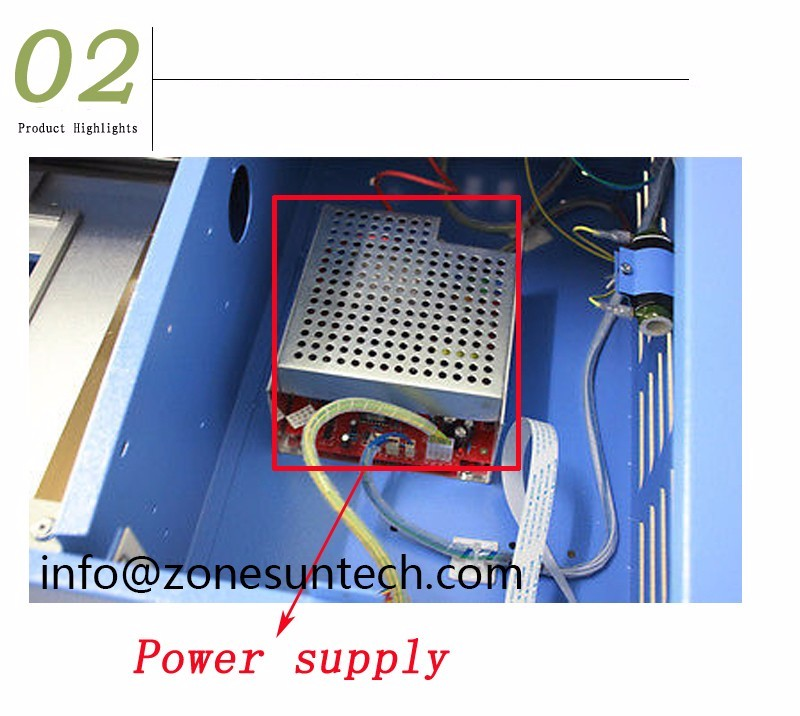 ZONESUN Brand New 110/220V 40W 200*300mm Mini CO2 Laser Engraving Cutting Machine 3020 Laser with USB Sport supply