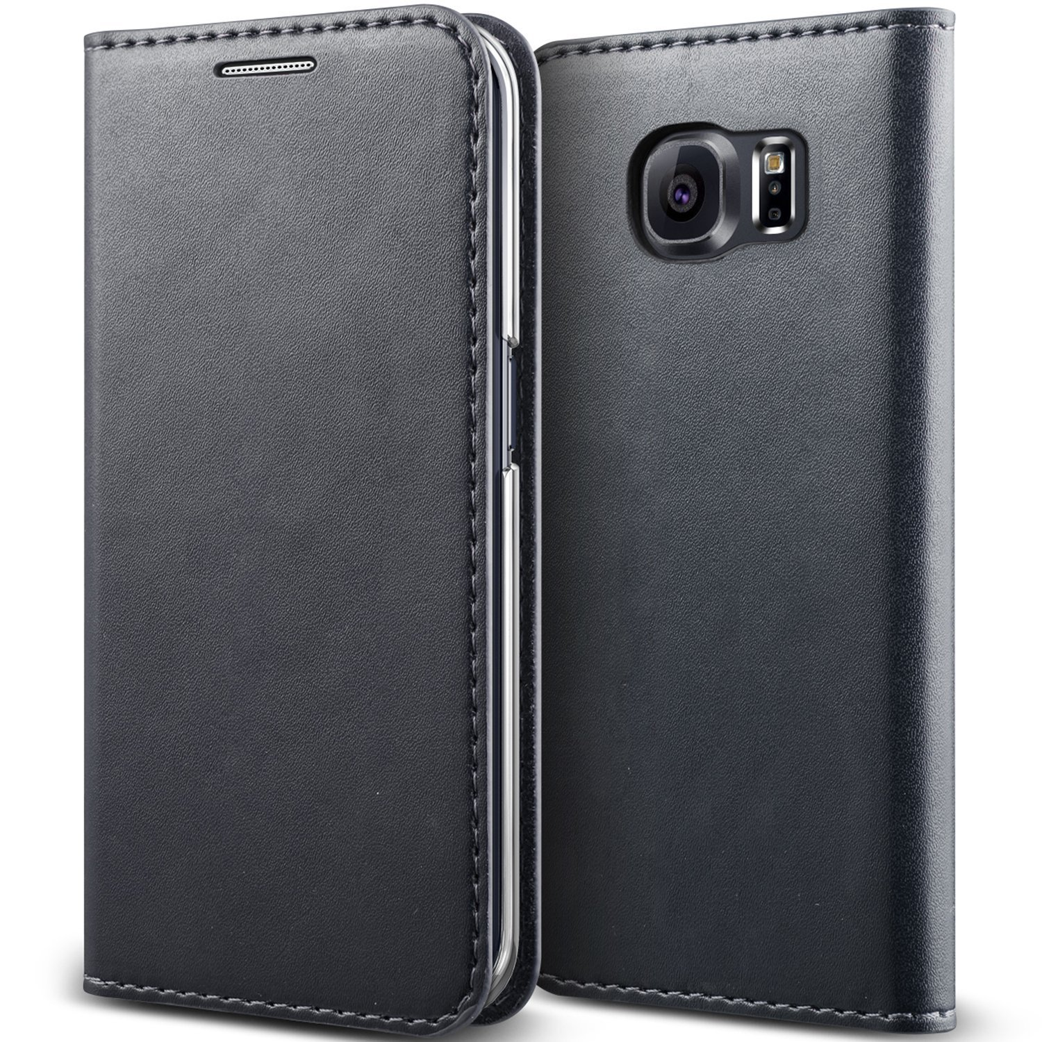 Galaxy S6 Edge Case, Verus [Crayon Diary][Warm Gray] - [Leather Wallet][Kickstand][Slim Fit] For Samsung Galaxy S6 Edge