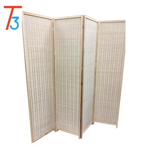 4-leaf Folding screen both sizes bamboo panels Privacy Screen Room Divider