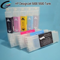 Alibaba Export CISS 81 Refill ink Cartridge Use for HP Designjet 5000 5500 Printer