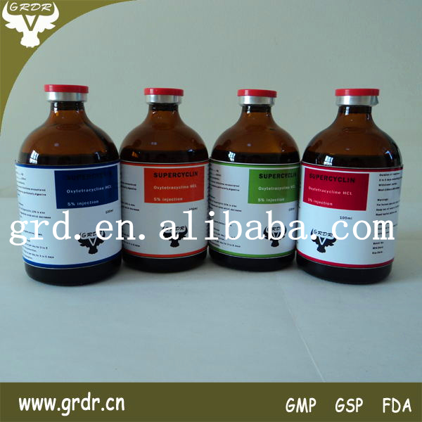 Veterinary Antibiotic oxytetracycline Liquid Injection