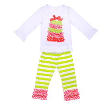 Bulk wholesale christmas boutique girl clothing and baby christmas outfit teletubby suits.