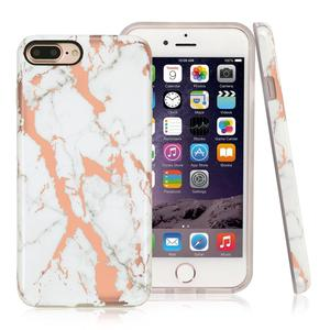 China Manufacturer Phone Case And Accessories Slim IMD Combo Cases Glossy Finish Marble Cover For iPhone 7 Plus Case