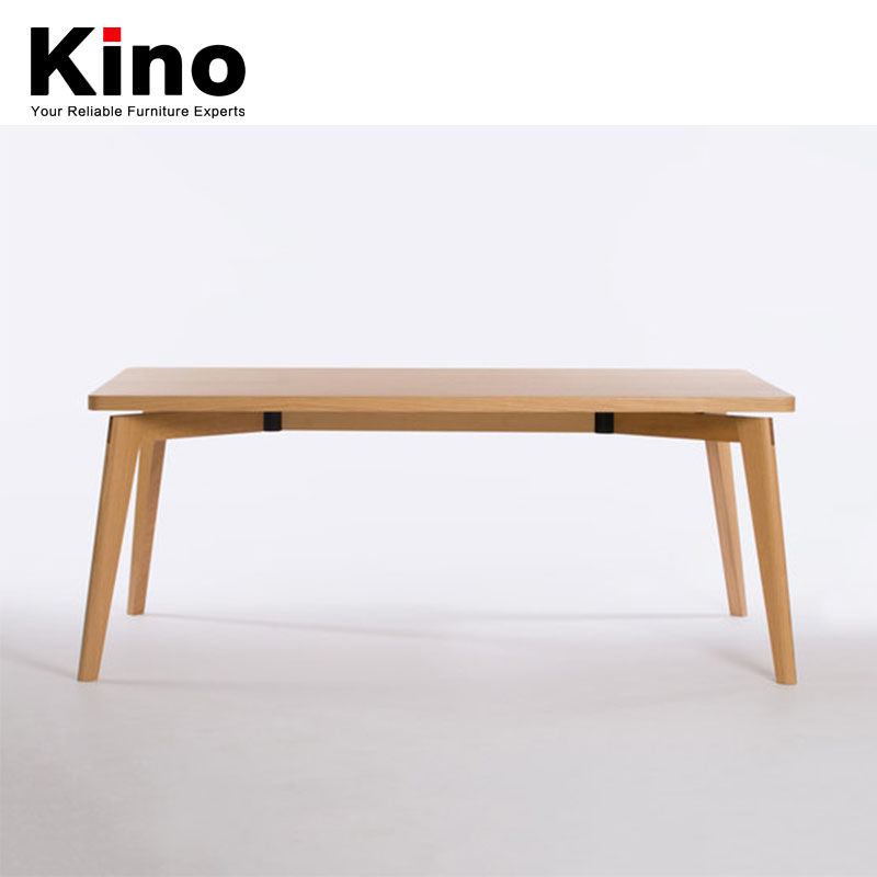 European modern family solid wood dining table rectangular table furniture