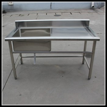Assembly Kitchen Stainless Steel Sink Work Table Mobile Kitchen