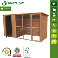 Wooden Dog House With Run For Large Dogs DFD012