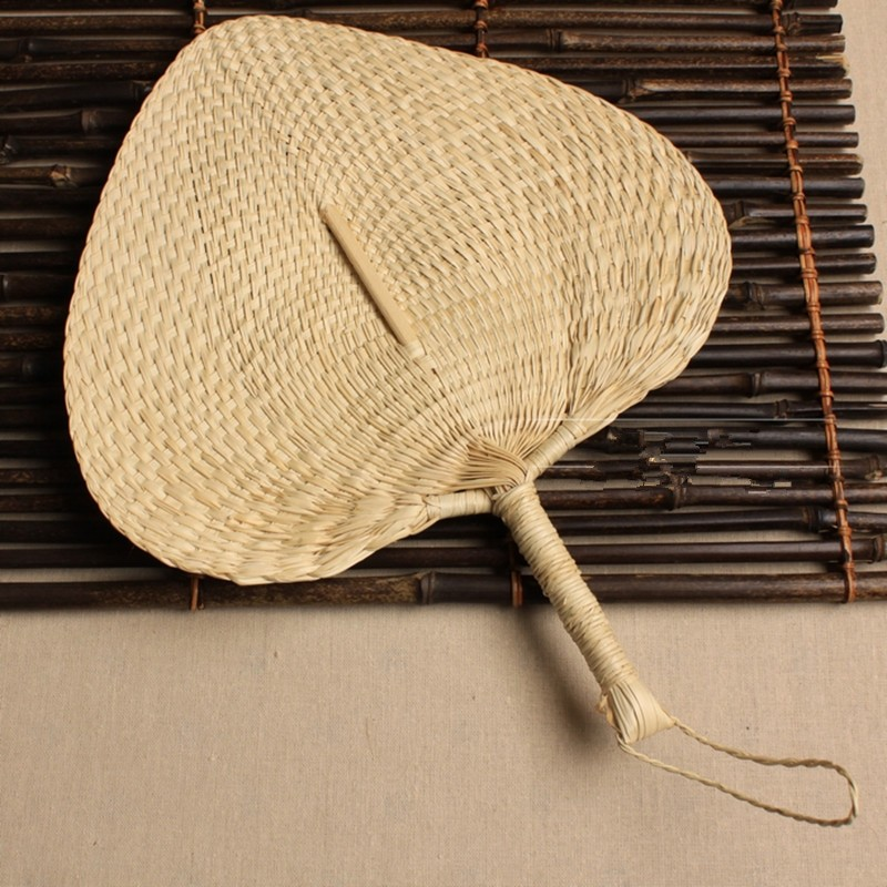 Wholesale Chinese Hand Fan Straw Wedding Souvenirs Home