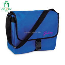 Custom cheap wholesale polyester fabric long strape mens shoulder bag