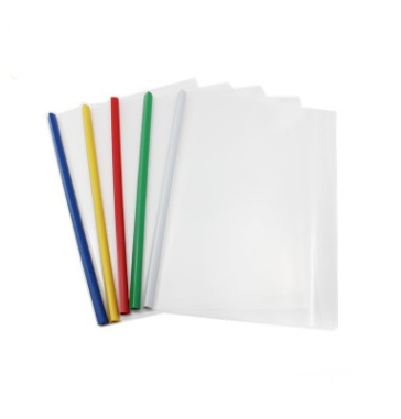 PP Plastic Transparent Expanding File Folder A4 Paper Size with Pumping Rod Clamp Organizer Super Durable