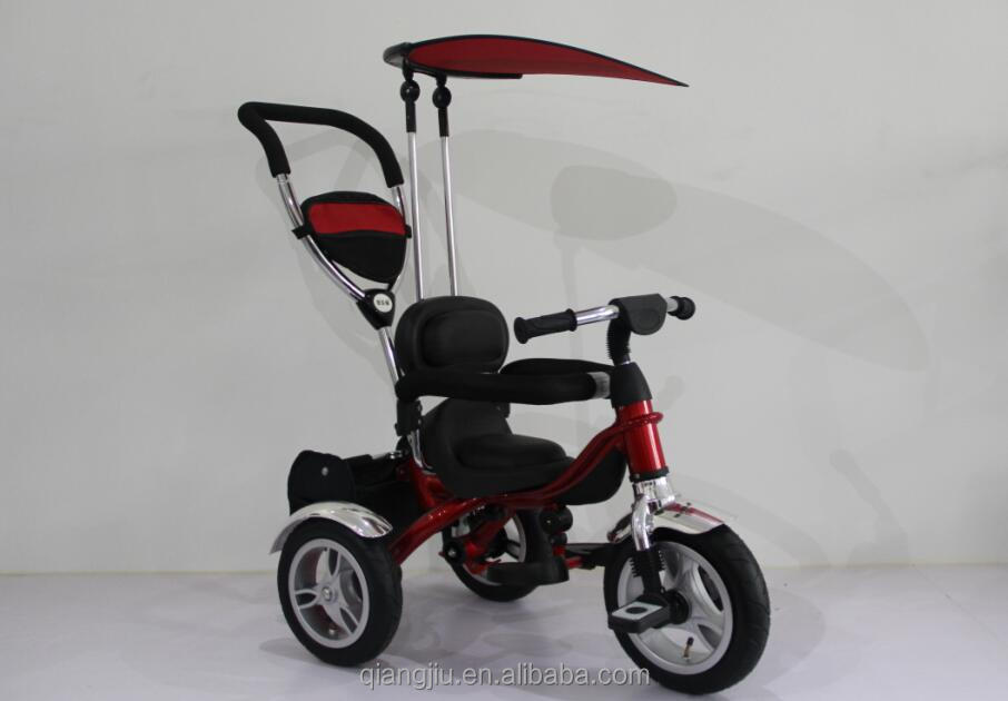 2017 new 3 in 1 baby tricycle for kids ride on stroller pram