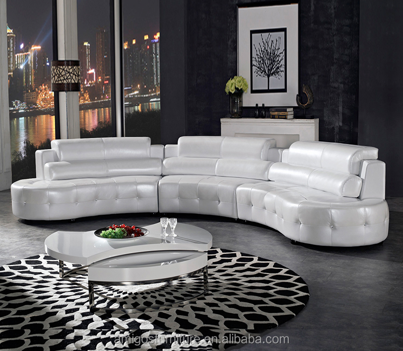 Competitive price Round moon sofa set for living room