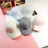 2017 New design embroidery fashion suede dad hat Custom your own design 6 panel suede baseball Cap