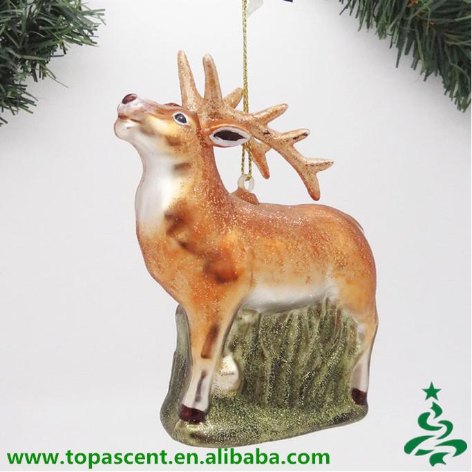 2015 Animated Christmas Hand Blown Glass Animal Ornaments ...