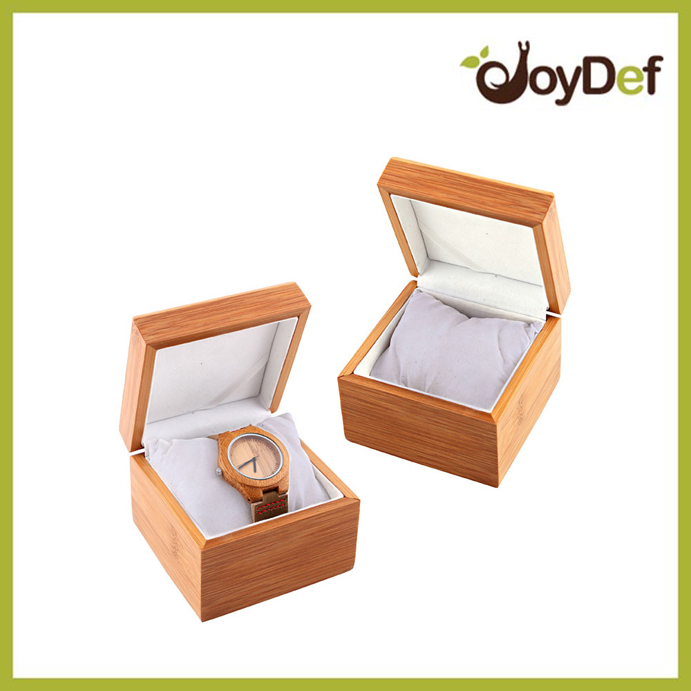 2016 Fashion Wooden Watch Box with Pillow Including Engrave Your Logo