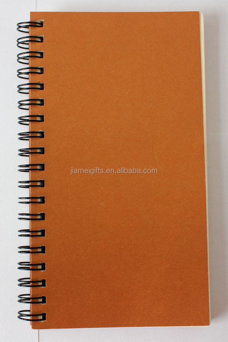 Eco Friendly Spiral Notebook With Colored Paper,Custom Ecycle Brown ...