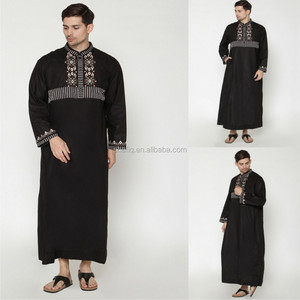 Embroidered Silk Route Islamic Clothing Abaya arab thoube muslim boys clothing arabic dress for man