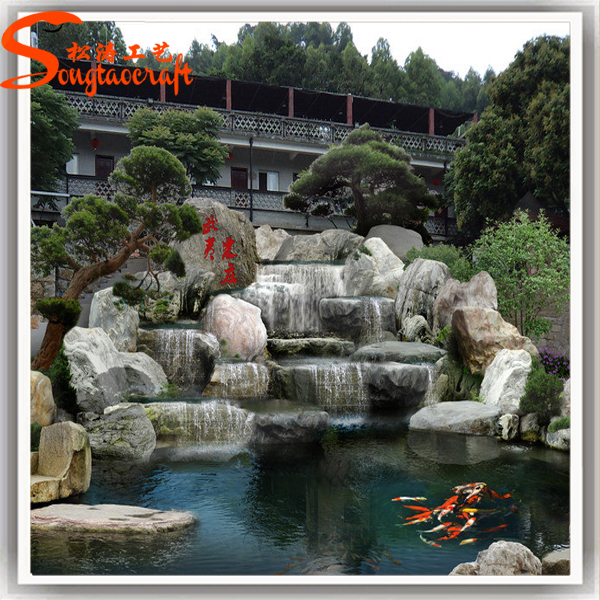 2015 New Product Garden Home Stone Water Fountain For Sale Large Artificial Stone  Water Fountain Waterfall