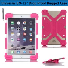 Universal 8.9-12″ Tablet Light Weight Kids Friendly Silicone Super Protection Cover Reinforced Corners  Drop Proof Rugged Case