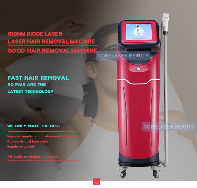Factory direct sale! Golden 808nm diode laser/diode laser hair removal for permanent hair removal