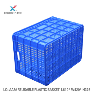 Agricultural crates stackable mesh plastic crate plastic turnover basket