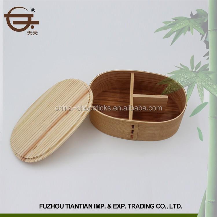 Hochwertige Bambus Tragbare Kinder Bento Lunch Box Speicherkasten