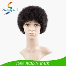 "custom logo 8"" 10 inches human hair short wig/guangzhou wholesale manufacture afro Africa human hair wigs"