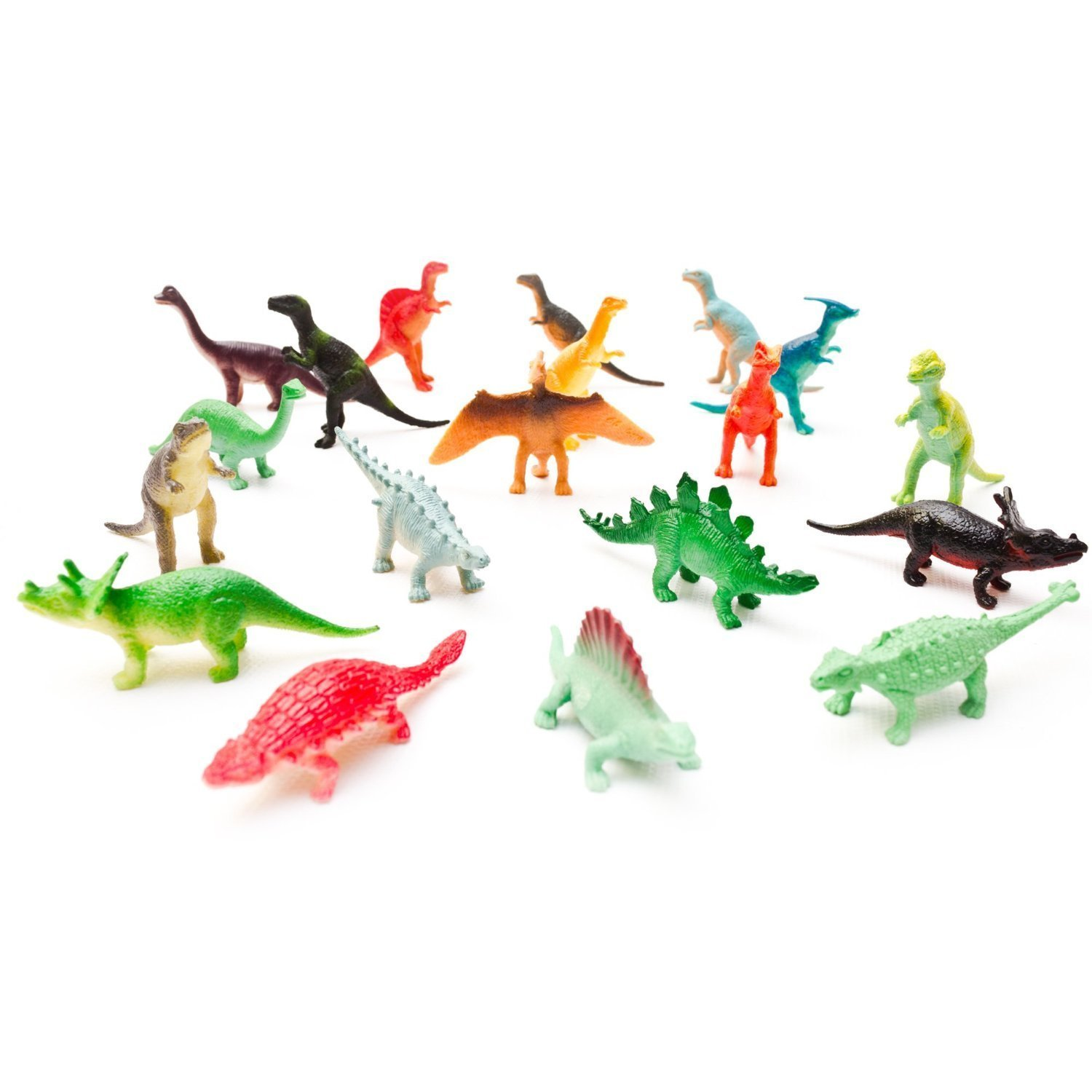 Fun Central AU078 Mini, Vinyl Dinosaur Toys - Assorted Styles, 72ct