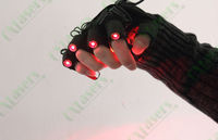 OXLasers Red Laser Gloves for parties DJ show laser light