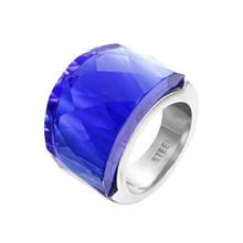 ZMZY модные элегантные большие кольца для женщин, розовое стекло, камень, нержавеющая сталь, обручальное кольцо, ювелирные изделия, 4 цвета на ...(Китай)