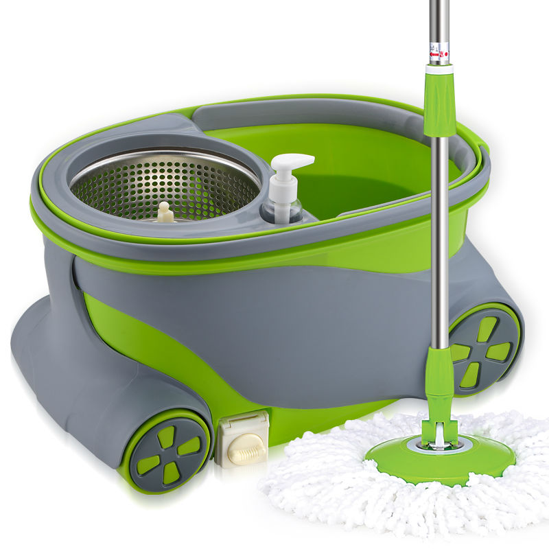 New Magic Spin Mop Bucket No Foot Pedal With Wheel Rotate