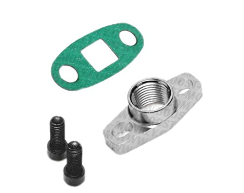 """Boost Monkey Turbo Oil Drain Outlet Flange Adapter 1/2"""" NPT Fitting"""