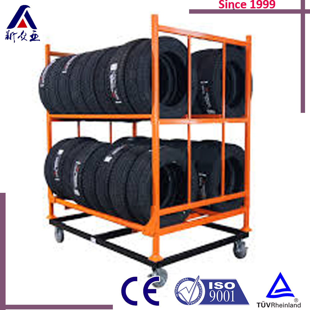 Rolling Tire Storage Rack >> Rolling Commercial Tire Storage Rack Buy Car Stacking System High