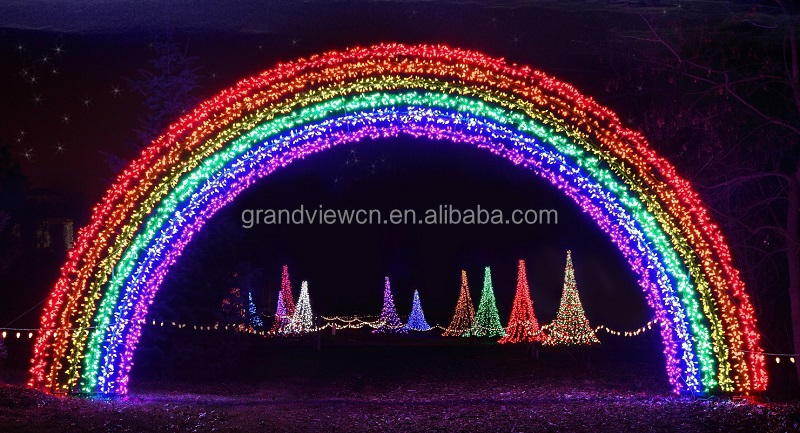 Led Outdoor Christmas Rainbow Arch Decoration Light For Holiday ...