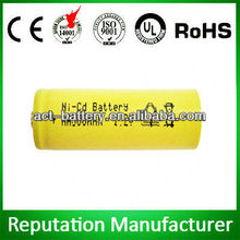 battery nicd 500mah 1.2v aa rechargeable nicd battery