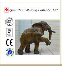 Resin Strengthen Elephants Figurine Decoration Home Decoration
