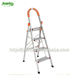 School Library used Iron Ladder, Folding Step Ladders, 4 Steps Iron Ladder